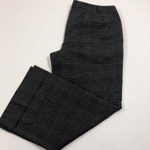 NWT Lane Bryant Gray Plaid Wide Leg Trousers Sz 20